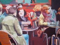 Le Café. 100 x 130. Acryl på lærred.
