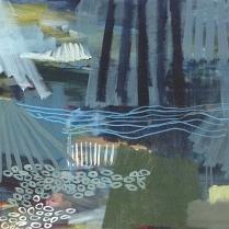 """60 x 90 cm. olie p. lærred """"Der er dage hvor Himmel og Jord går i eet"""" 2014"""